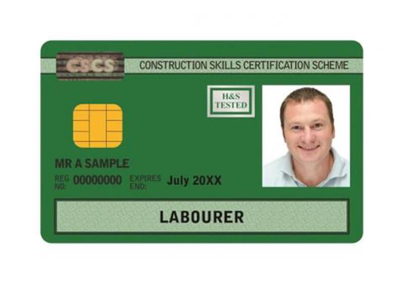 Card CSCS / Carduri CSCS - Pop Corporation - Card Verde CSCS UK