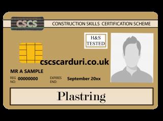 NVQ Level 3 CSCS Auriu - Card Auriu CSCS Plastering (Glet) - Carduri CSCS UK