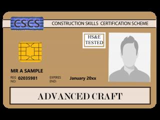 NVQ Level 3 CSCS Auriu - Card Auriu CSCS Wood Occupations - Carduri CSCS UK
