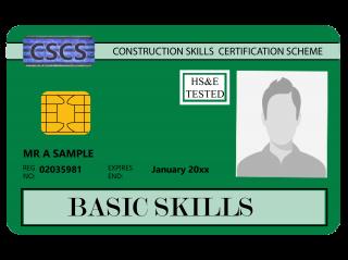 NVQ Level 1 CSCS Verde - Card Verde CSCS Basic Skills - Carduri CSCS UK