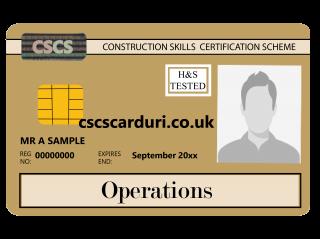 NVQ Level 3 CSCS Auriu - Card Auriu CSCS Operations - Carduri CSCS UK