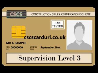 NVQ Level 3 CSCS Auriu - Card Auriu CSCS Supervisor - Carduri CSCS UK