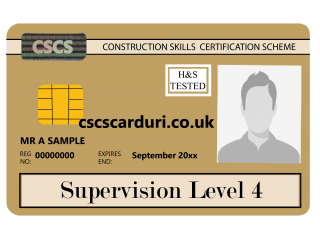 NVQ Level 4 CSCS Auriu - Card Auriu CSCS Supervisor - Carduri CSCS UK