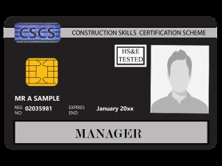 NVQ Level 6 CSCS Negru - Card Negru CSCS Site Manager - Carduri CSCS UK