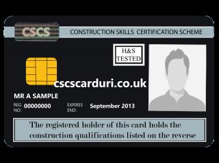 NVQ Level 7 CSCS Negru - Card Negru CSCS Senior Site Manager - Carduri CSCS UK