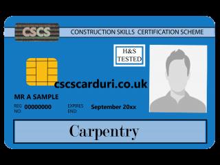 NVQ Level 2 CSCS Albastru - Card Albastru CSCS Carpentry (Tâmplar) - Carduri CSCS UK