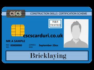 NVQ Level 2 CSCS Albastru - Card Albastru CSCS Bricklaying (Zidar) - Carduri CSCS UK