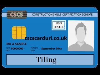 NVQ Level 2 CSCS Albastru - Card Albastru CSCS Tiling (Faianțar) - Carduri CSCS UK